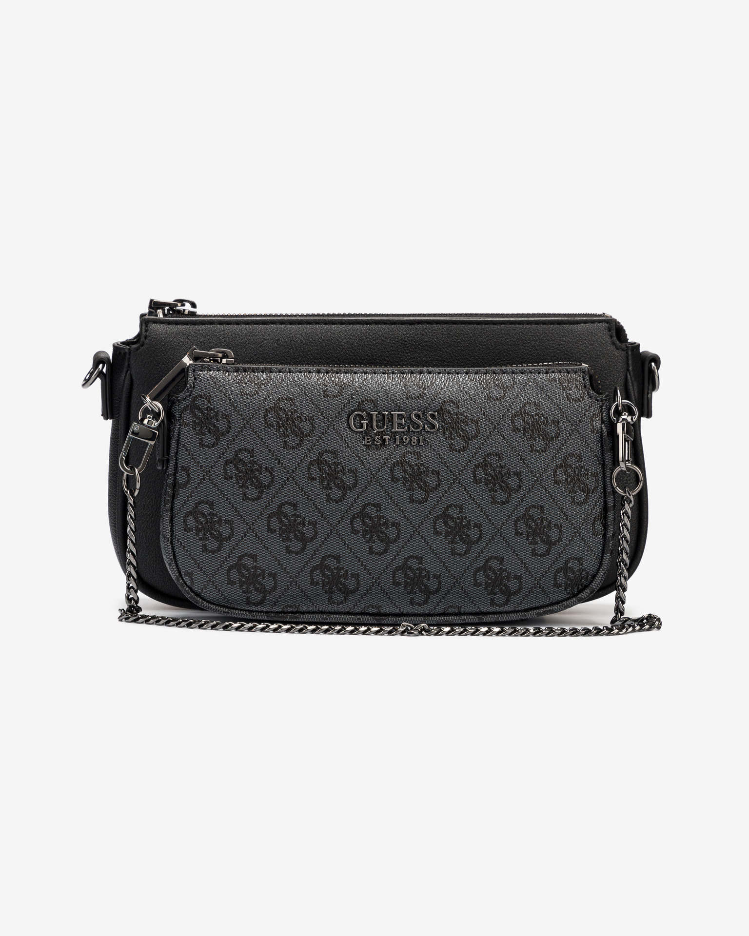 Guess fekete 2in1 crossbody kézitáska Mika Double Pouch